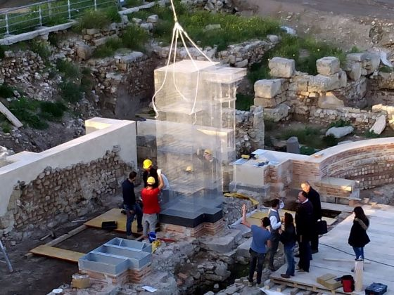 Edoardo Tresoldi, Basilica di Siponto, work in progress. Photo © Roberto Conte