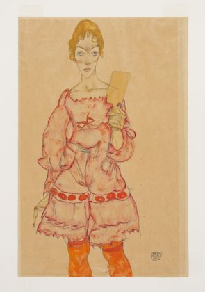 Egon Schiele, Woman with Mirror, 1915, Tel Aviv Museum of Art Collection, c. 1953. Picture: © Elad Sarig