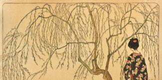 Emil Orlik, Japanisches Mädchen unterm Weidenbaum, 1901. Collezione Eugen Otto, Vienna