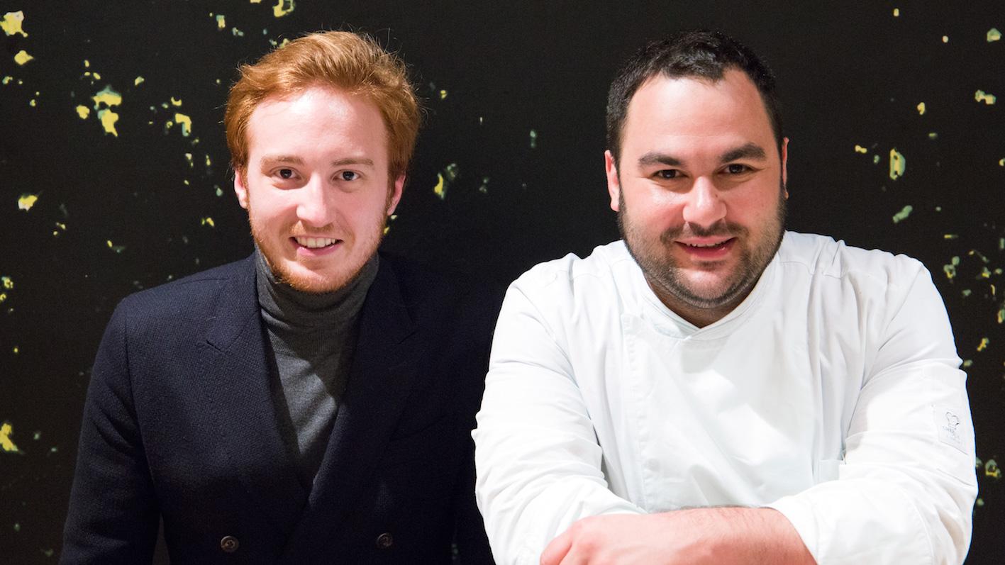 Emilio Re Rebaudengo (sx), Chef Alessandro Mecca (dx) (ph. Sara D'Incalci)