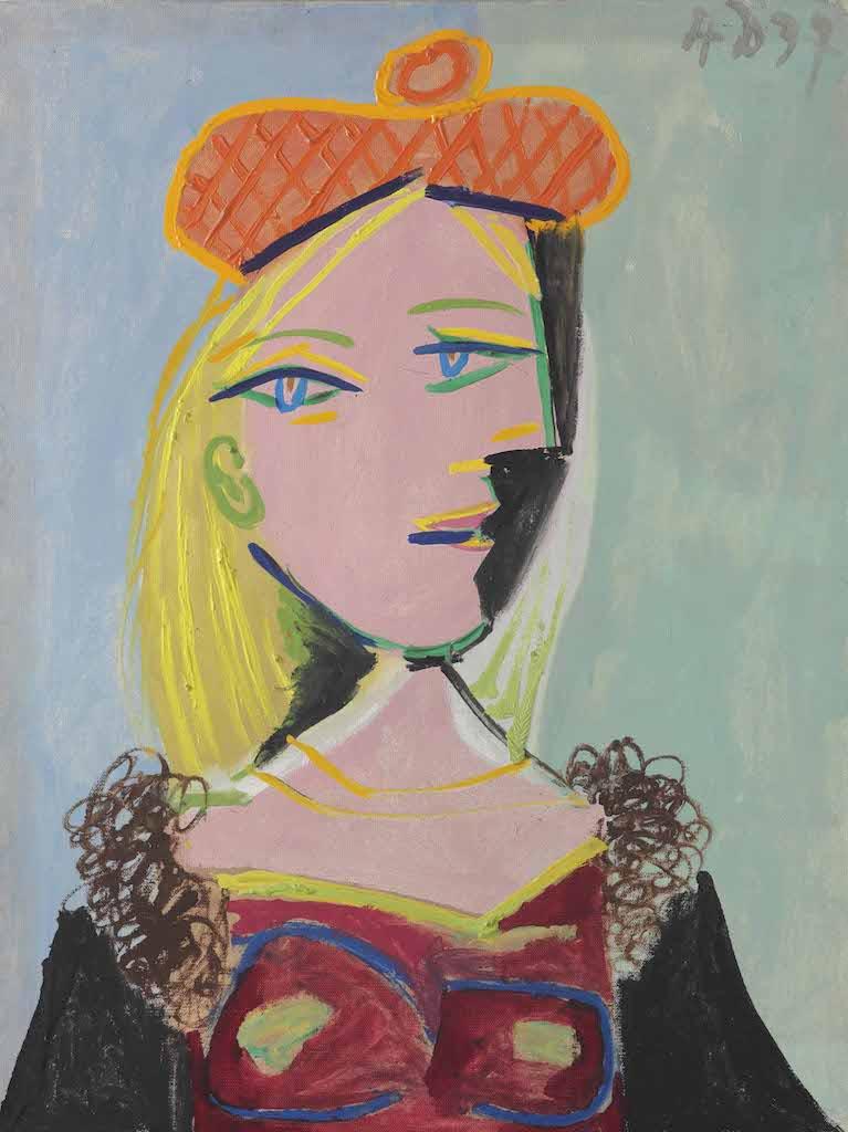 Pablo Picasso, Femme au béret orange et au col de fourrure