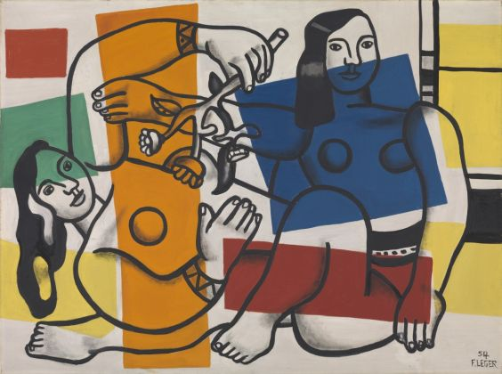 Leger, Two Women Holding Flowers @ADGP Paris and DACS London