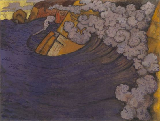 Georges Lacombe, L'onda violetta, 1896-97. The George Economou Collection. Photo © Odysseas Vaharides. Courtesy The George Economou Collection