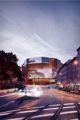 HENN, rendering, Gasteig. Courtesy Architecture HENN. Visualizations MIR
