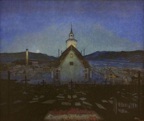 Harald Oskar Sohlberg, Notte, 1904. Trondheim Kunstmuseum. Photo courtesy Trondheim kunstmuseum