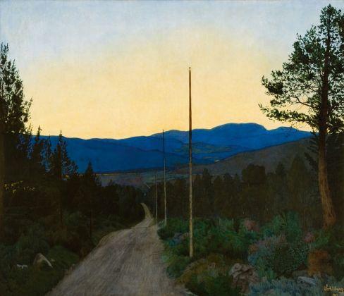 Harald Oskar Sohlberg, Strada di campagna, 1905. Collezione privata. Photo courtesy Thomas Widerberg
