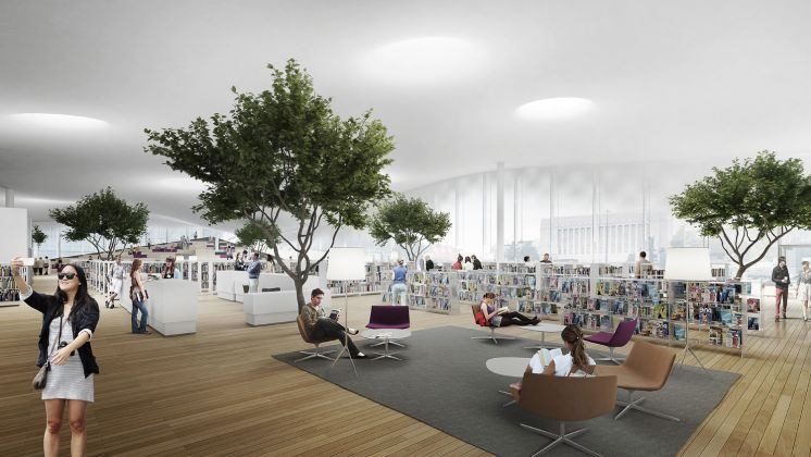 Helsinki Central Library by ALA, 2nd floor interior © ALA Architects