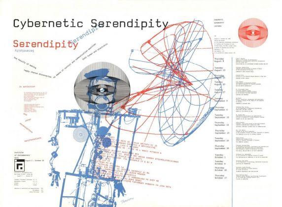 Il poster di Cybernetic Serendipity, la mostra curata da Jasia Reichardt per l'ICA di Londra nel 1968