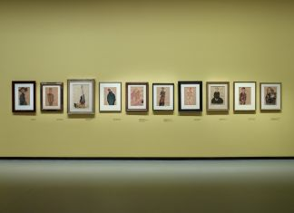 Installation view of the « Egon Schiele », gallery 1 (level -1), Fondation Louis Vuitton, Paris, from 3 October 2018 to 14 January 2019. Crédit photo : © Fondation Louis Vuitton/Marc Domage