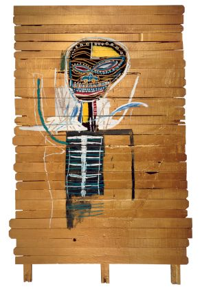 Jean-Michel Basquiat, Gold Griot, 1984, Acrylic and oilstick on wood. The Broad Art Foundation © Estate of Jean-Michel Basquiat. Licensed by Artestar, New York Picture: © Zindman/ Fremont