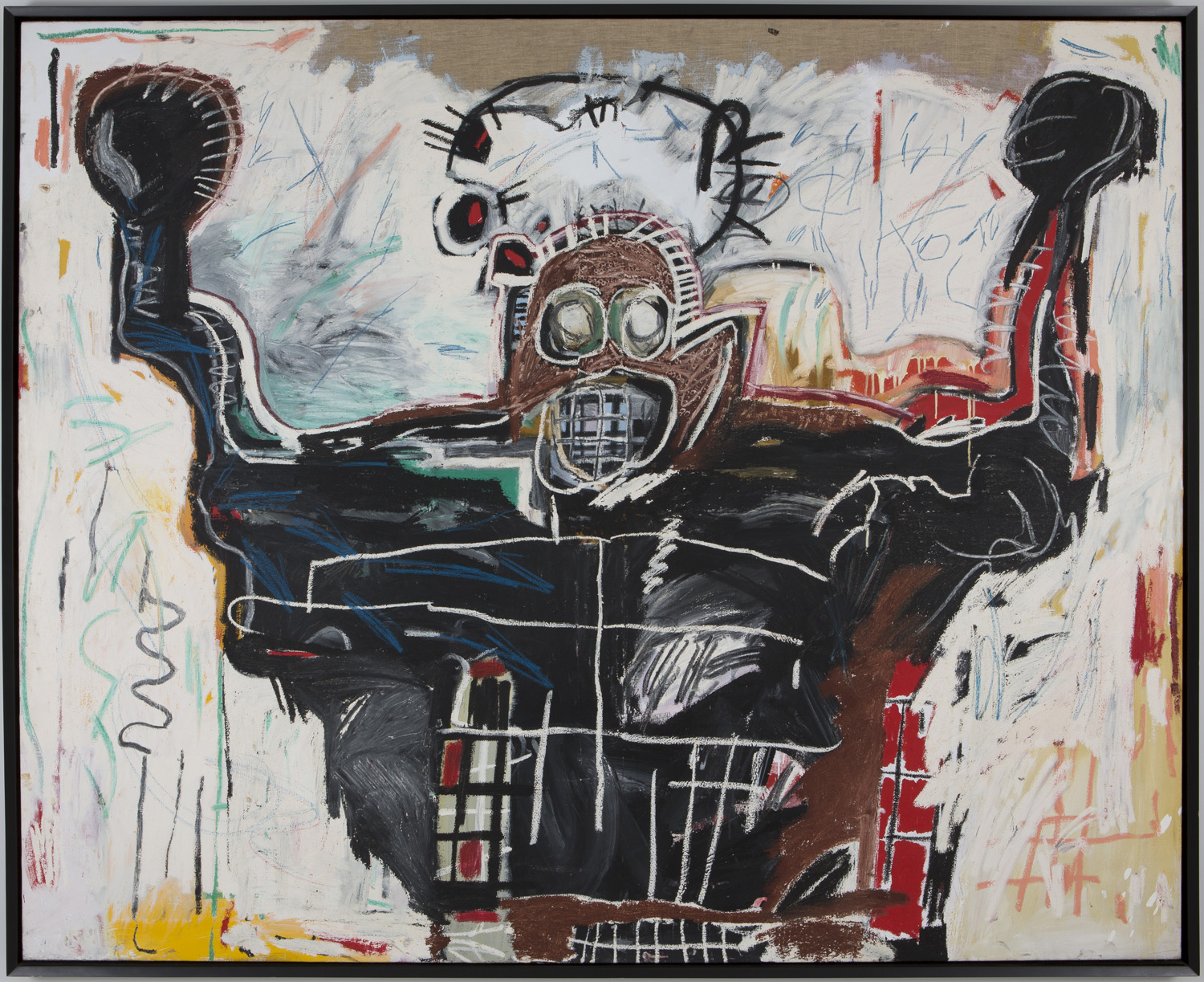 Jean-Michel Basquiat, Untitled (Boxer), 1982, Acrylic and oilstick on canvas, private collection © Estate of Jean-Michel Basquiat. Licensed by Artestar, New York