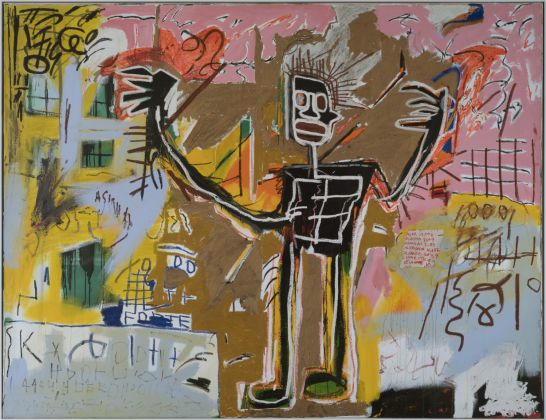 Jean-Michel Basquiat, Untitled (Tenant), 1982, Acrylic and oilstick on canvas. Courtesy of Van de Weghe, New York © Estate of Jean-Michel Basquiat. Licensed by Artestar, New York Picture: © Patrick Goetelen