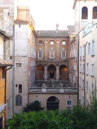 La vista sul cortile di Palazzo Mattei di Giove