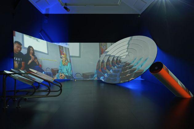 Les Ateliers de Rennes 2018. Meriem Bennani. Installation view at La Criée centre d'art contemporain, Rennes 2018. Photo © Aurélien Mole