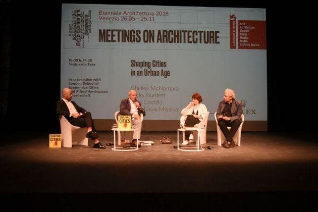 """L'incontro """"Shaping cities in an urban age"""" alla Biennale di Architettura di Venezia, 2018. Photo Lorenzo Marzi, Courtesy La Biennale di Venezia"""