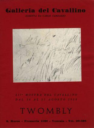 Locandina della mostra di Cy Twombly alla Galleria del Cavallino, Venezia 1958