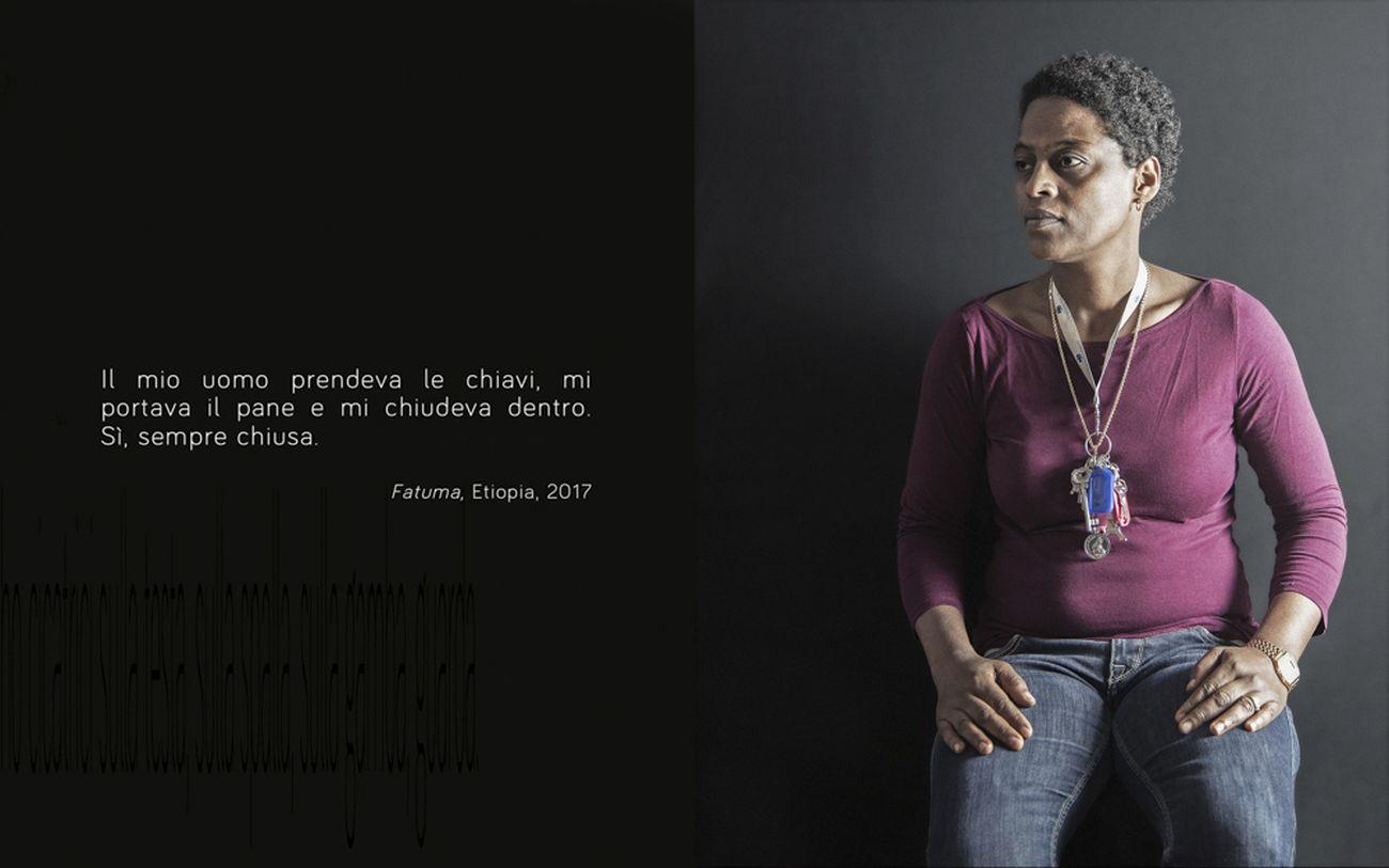 Luisa Menazzi Moretti, Io sono I am, Fatuma. Photo © Luisa Menazzi Moretti, 2017