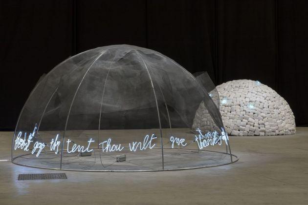 Mario Merz. Igloos. Exhibition view at Pirelli HangarBicocca, Milano 2018. Courtesy Pirelli HangarBicocca, Milano. Photo Renato Ghiazza © Mario Merz, by SIAE 2018
