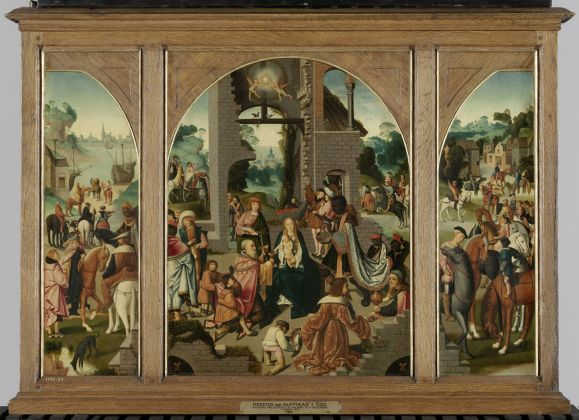 Master of Alkmaar Adoration of the Magi c. 1500-04. Amsterdam Rijksmuseum on loan from Royal Cabinet of Mauritshuis The Hague