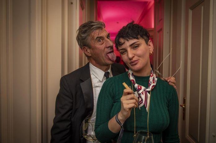 Maurizio Cattelan e Arisa. ph Carmine Conte