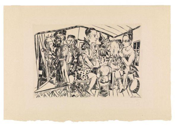Max Beckmann, Dietro le quinte (Jahrmarkt, 3 10), 1921 22. Buchheim Museum der Phantasie, Bernried am Starnberger See © 2018, ProLitteris, Zurich
