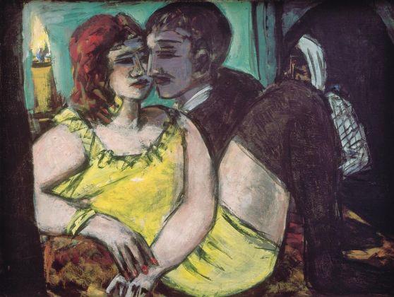 Max Beckmann, Gli amanti (verde e giallo), 1940-43. Museum Ludwig, Köln Legat Lilly von Schnitzler Mallinckrodt, Ankauf 1957 © 2018, ProLitteris, Zurich