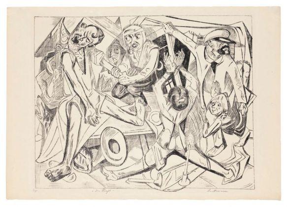 Max Beckmann, La notte (Die Hölle, 7-11), 1919. Buchheim Museum der Phantasie, Bernried am Starnberger See © 2018, ProLitteris, Zurich