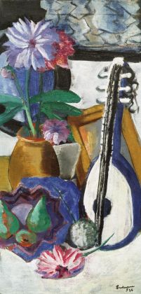 Max Beckmann, Natura morta con dalie viola, 1926. Artimedes Collection © 2018, ProLitteris, Zurich