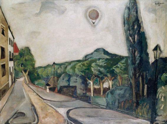 Max Beckmann, Paesaggio con mongolfiera, 1917. Museum Ludwig, Köln Ankauf 1954 © 2018, ProLitteris, Zurich