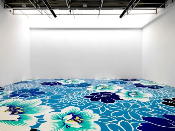 Michael Lin, Floor Painting, 2010. Courtesy Centro Pecci