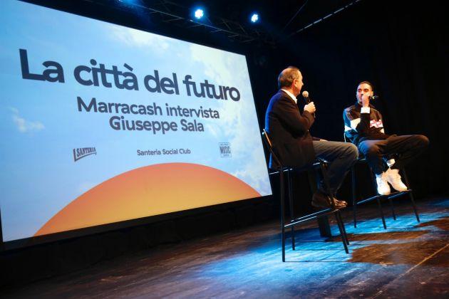 Milano Music Week 2018. Day3. Giuseppe Sala e Marracash. Courtesy Milano Music Week