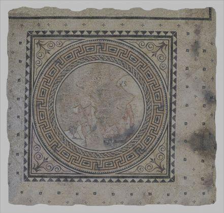 Mosaico con raffigurazione di pugili, marmi differenti, metà I sec. a.C.