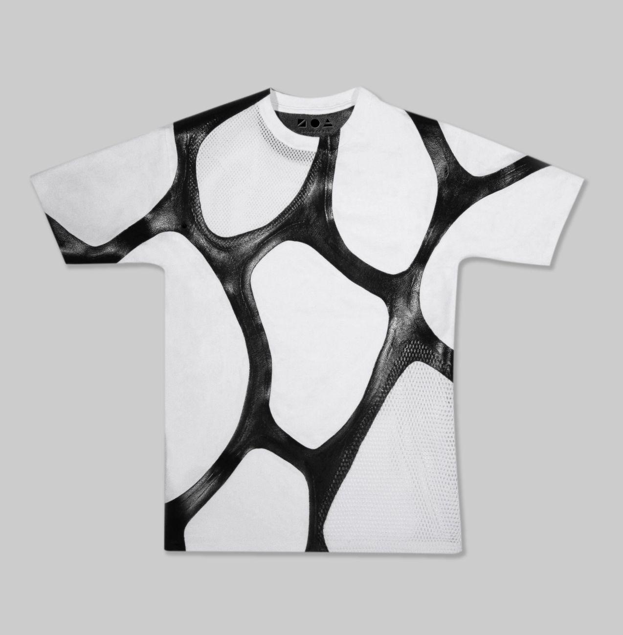 Next Design Perspectives. Zoa Biofabricated Bioeather T-shirt MoMA. Photo credit Sara Kinney