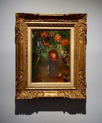 Odilon Redon, La prière, visage, fleurs, 1893 circa, Musée d'Orsay Parigi