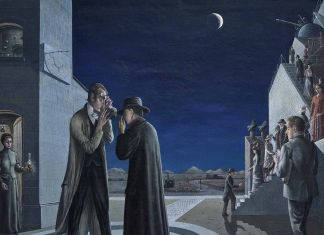 Paul Delvaux, Les phases de la Lune III, 1942. Museum Boijmans Van Beuningen, Rotterdam. Photo Studio Tromp (c) Paul Delvaux Foundation by SIAE 2018