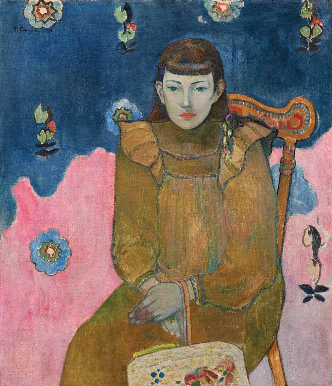 Paul Gauguin, Ritratto di giovane donna, Vaïte (Jeanne) Goupil, 1896. Ordrupgaard, Copenhagen. Courtesy Palazzo Zabarella