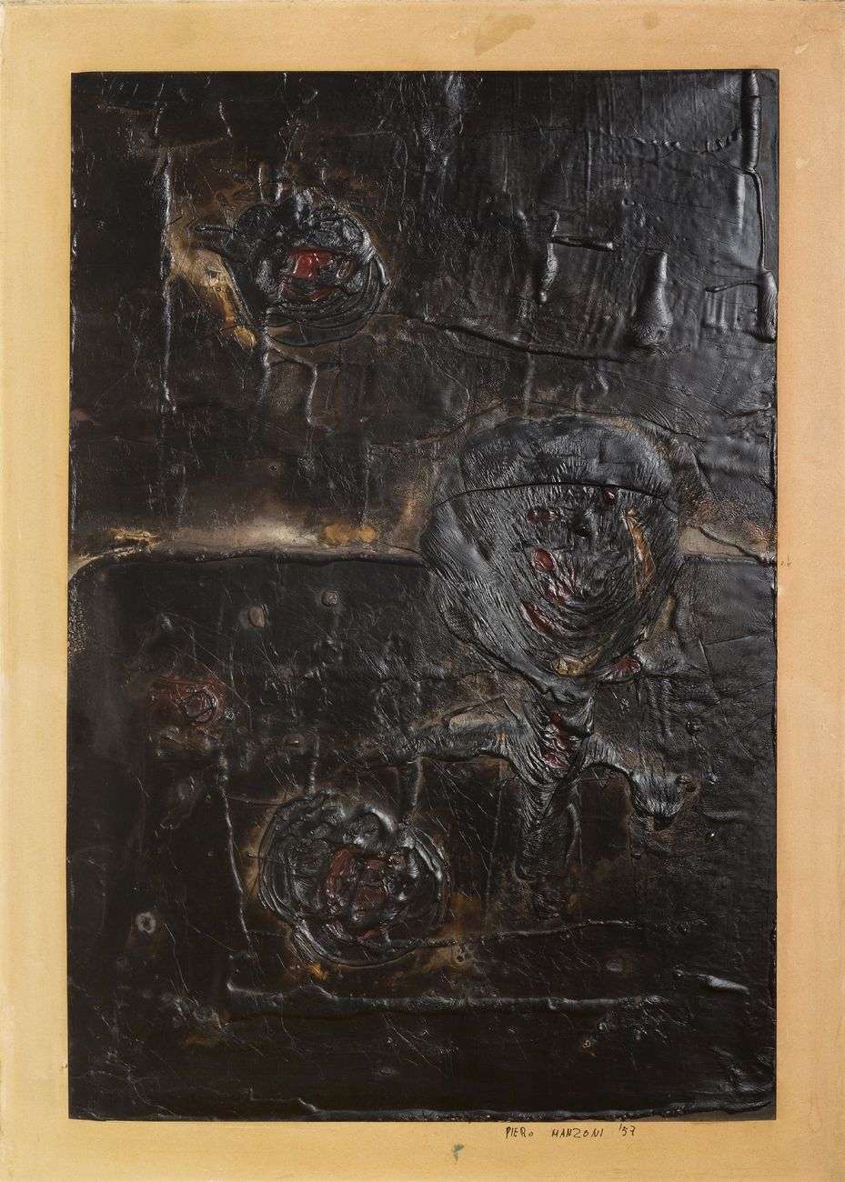 Piero Manzoni, Senza titolo, 1957. Collezione privata © Fondazione Piero Manzoni, Milano by SIAE 2018. Courtesy GAMeC, Bergamo