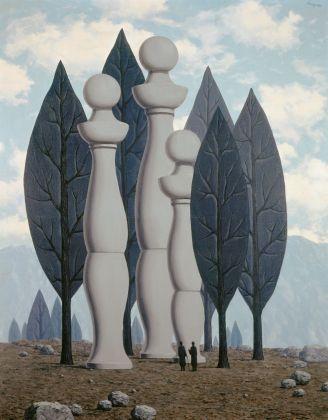 René Magritte, L'art de la conversation, 1962. Collezione privata © 2018 Prolitteris, Zurich