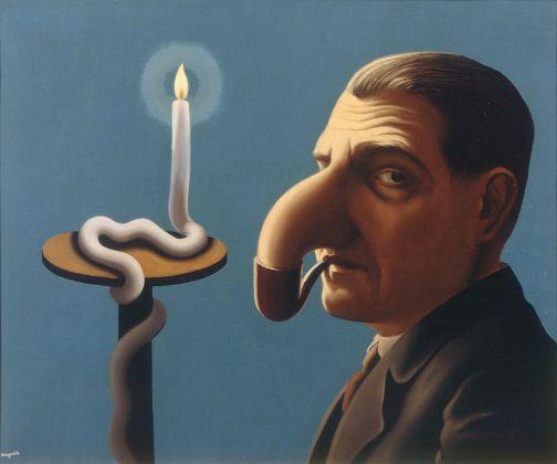 René Magritte, La lampe philosophique, 1936. Collezione privata, Belgio © Prolitteris 2018, Zurich