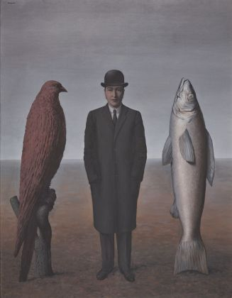 René Magritte, La présence d'esprit, 1960. Essen, Museum Folkwang, deposito permanente da collezione privata © 2018 Prolitteris, Zurich