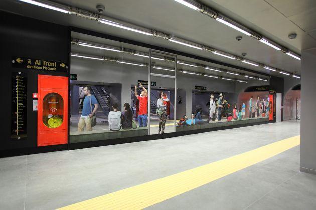 Stazione Garibaldi, Pistoletto. foto ANM SpA