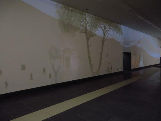 Stazione Municipio, Michal Rovner, Passaggi. photo ANM SpA