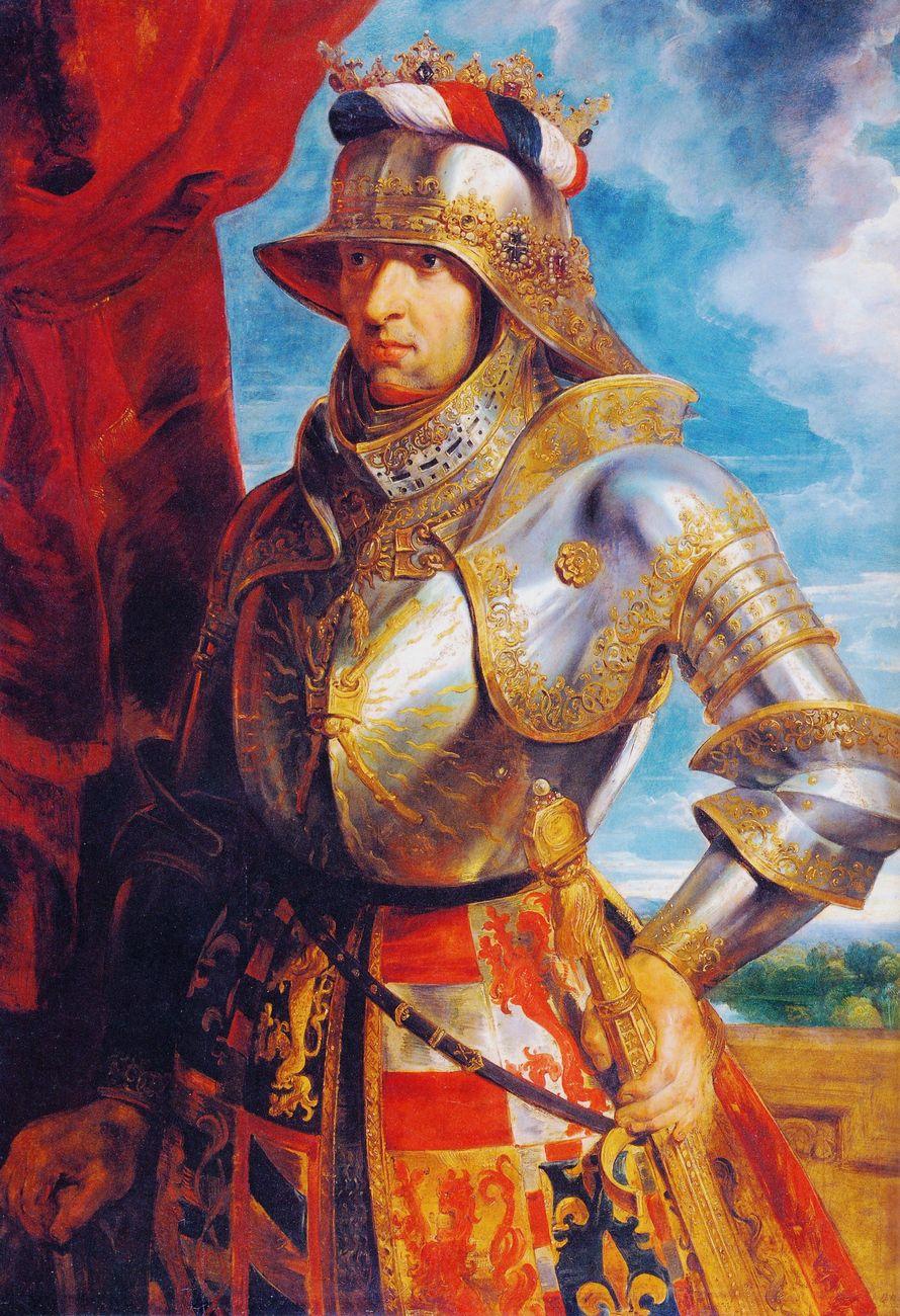 Stephan Füssel – Theuerdank (Taschen, Colonia 2018). Pieter Paul Rubens, Ritratto ideale di Massimiliano I, 1618 ca.