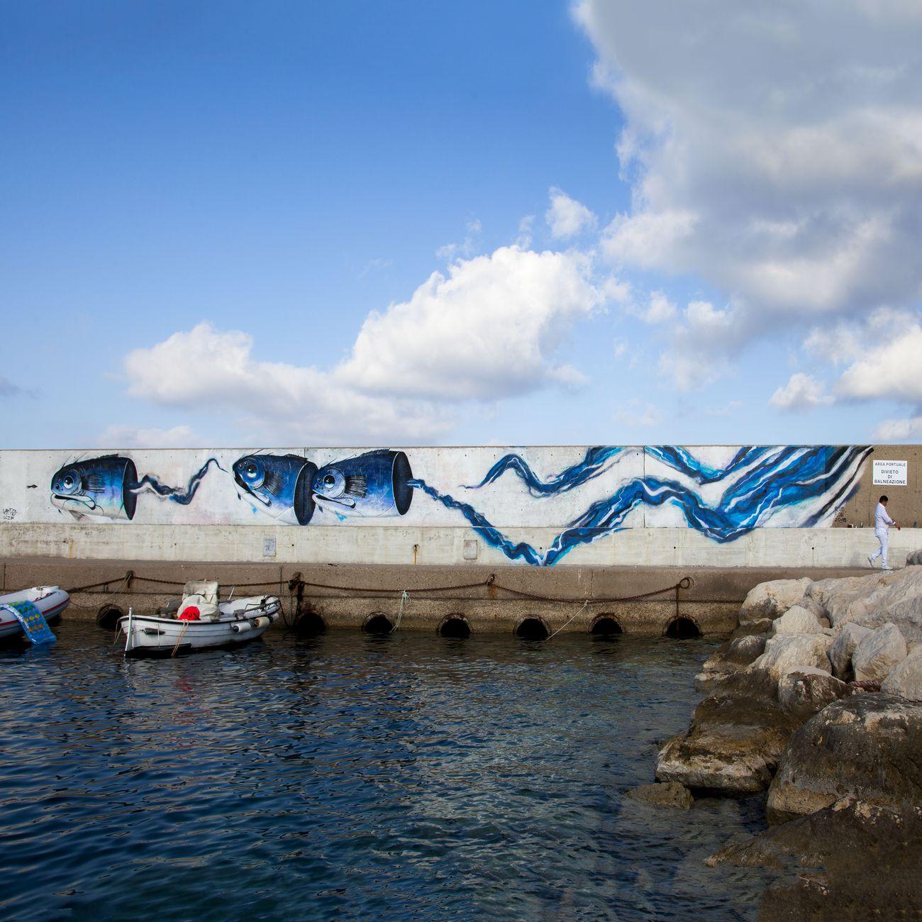 Urto, Blue flow, Isola di Ventotene 2018