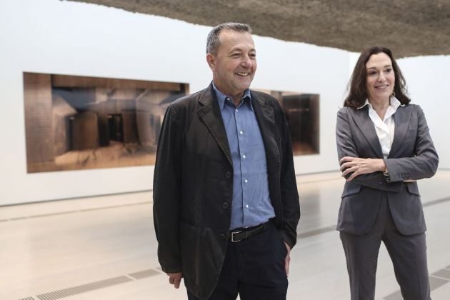 Vicente Todolí e Cristina Iglesias, photo Belén de Benito