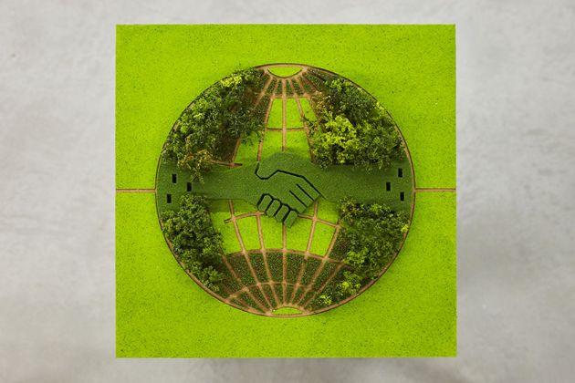 Zheng Bo, A Chinese Communist Garden in Paris (Proposal I), 2018. Courtesy the artist