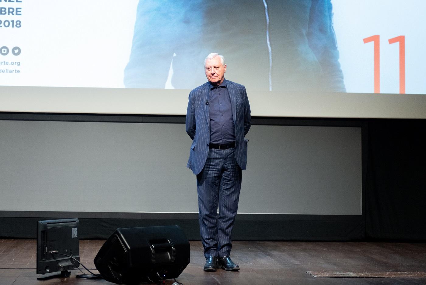 Peter Greenaway a Lo Schermo dell'arte 2018 – Courtesy Camilla Riccò - Lo Schermo dell'arte