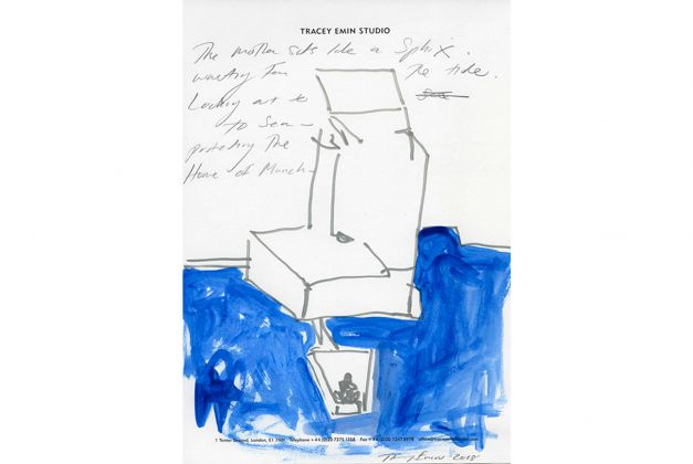 Tracey Emin, The Mother, drawing. Copyright Tracey Emin Studio