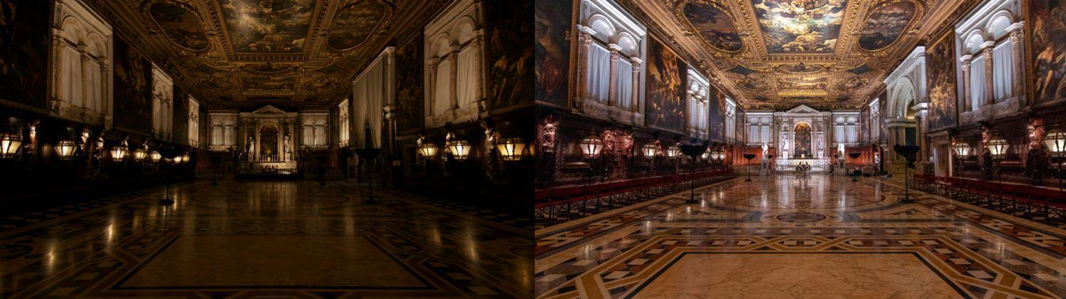 Scuola Grande di San Rocco_Sala Capitolare comparison