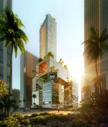 Vanke 3D City, Shenzhen, China, 2018 © ATCHAIN Copyright: MVRDV 2018 – (Winy Maas, Jacob van Rijs, Nathalie de Vries)